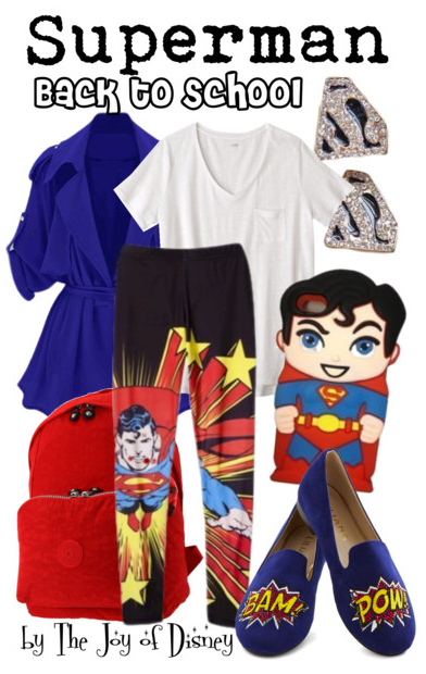 dc comics, superman, superman costume, superman leggings, back to school outfit, school fashion