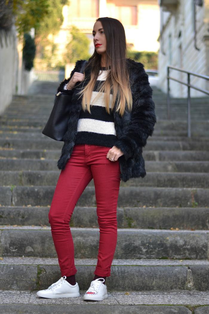 maglione righe bianco nero