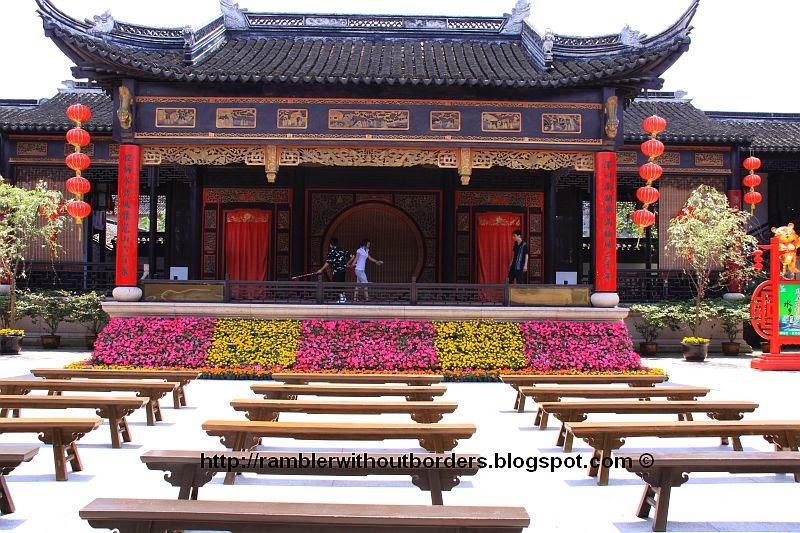 Kunqu Opera theatre stage, Zhouzhuang, Jiangsu, China