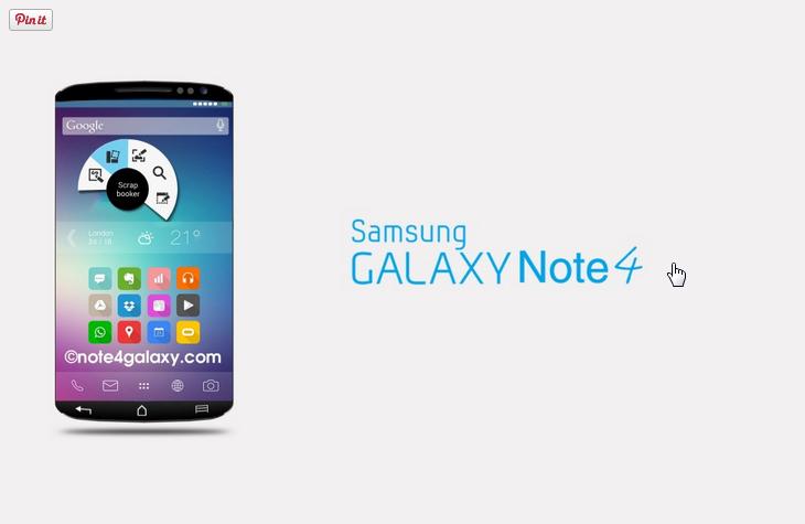 Lançamento do Galaxy Note S4 previsto para Setembro.