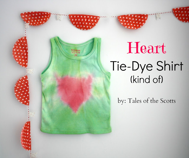 green tank top with red tie-dyed heart