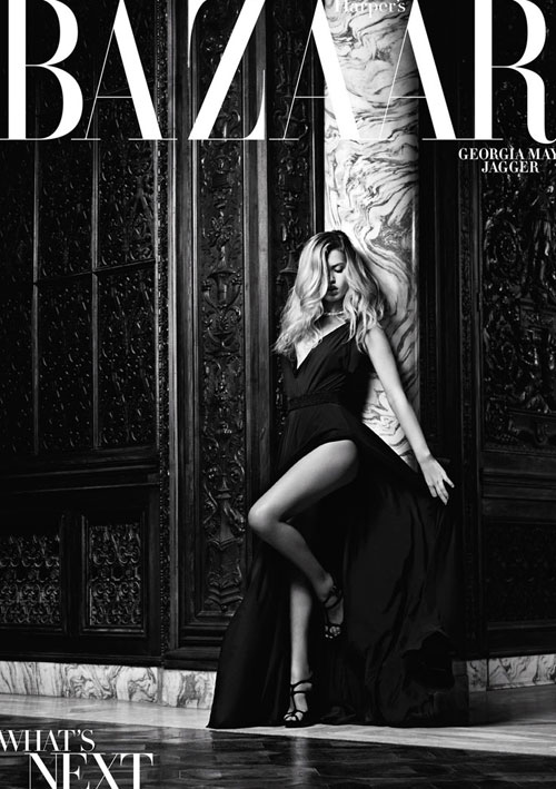Georgia May Jagger on Harper's Bazaar U.S