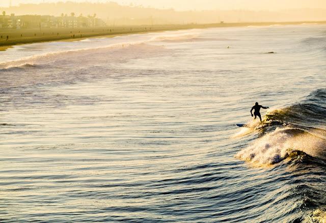 Surf em Venice Beach em Los Angeles