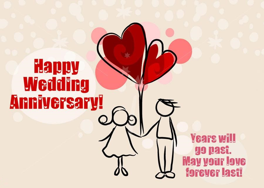 Happy Wedding Anniversary Cards For Friends Family