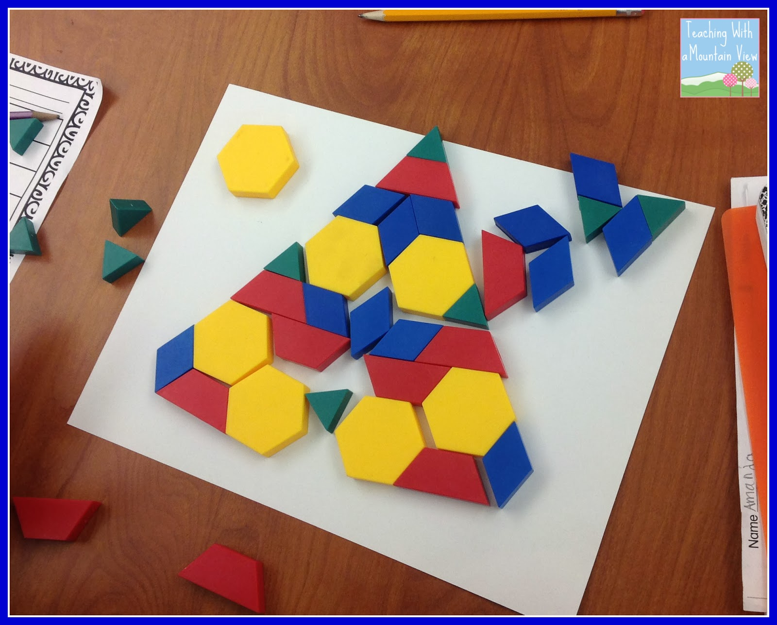 Pattern Block Fractions New Design