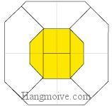 Bước 12: Hoàn thành cách xếp quả trứng ốp la bằng giấy theo phong cách origami.