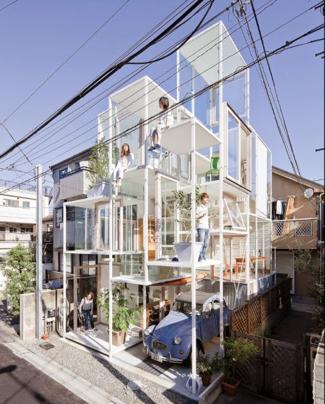 See through house by Sou Fujimoto.