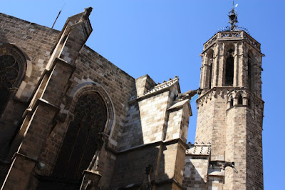 Bell tower of the Barcelona Cathedral