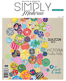WooHoo!! My Bubbles quilt is on the cover of Simply Moderne!!