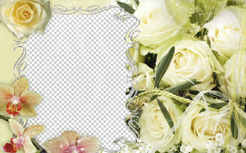 Portaretrato de rosas y orquídeas para tu mami