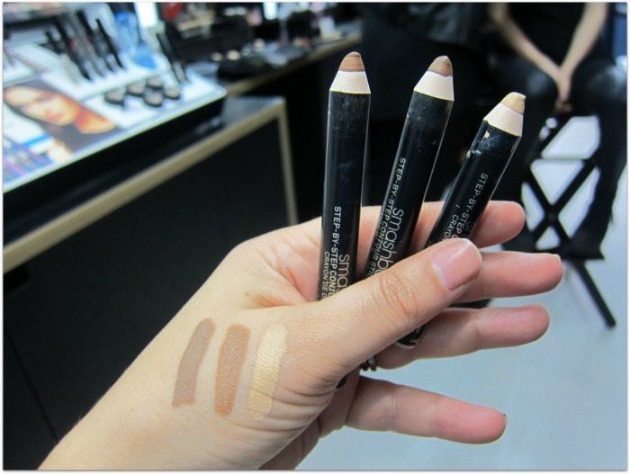 Smashbox contour crayon swatches