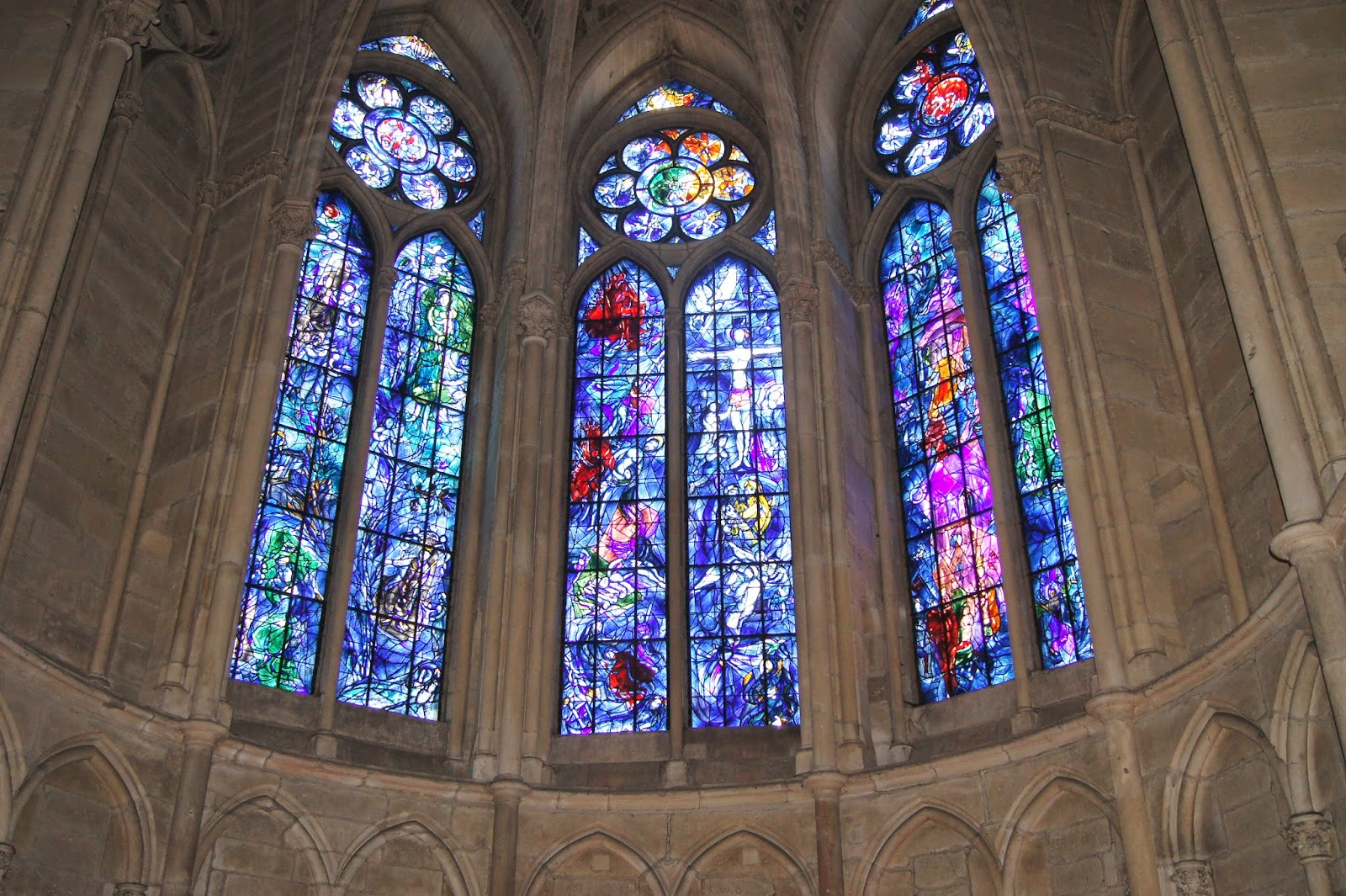 Chagall Stained Glass windows Notre Dame de Reims