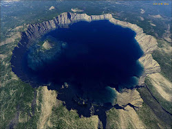 Crater Lake Aerial Photo