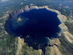 Crater Lake Aerial Photo