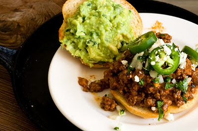 tex-mex sloppy joe sandwich