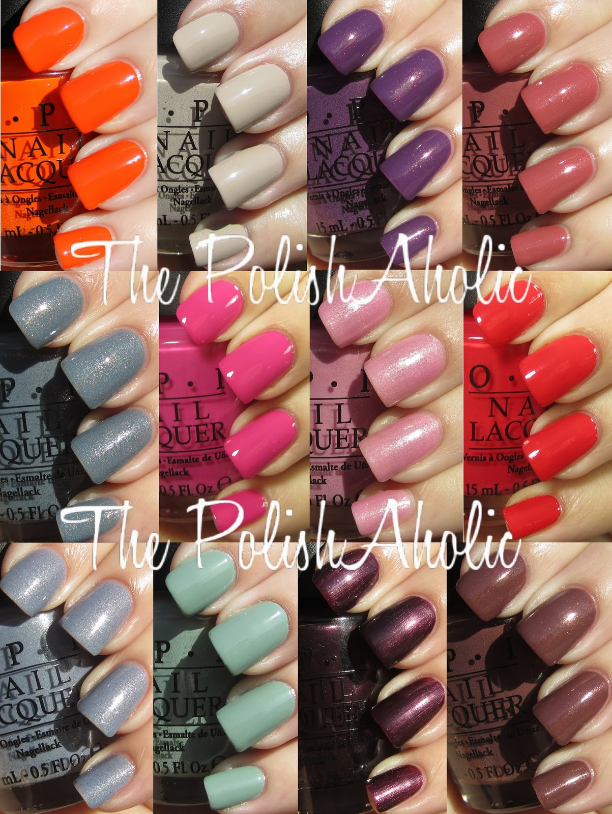 OPI Spring 2012 Holland Collection Swatches
