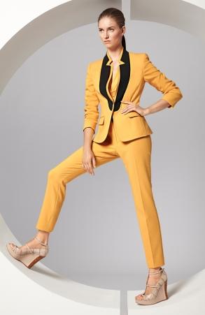 escada sarı ceket, sarı kumaş pantolon