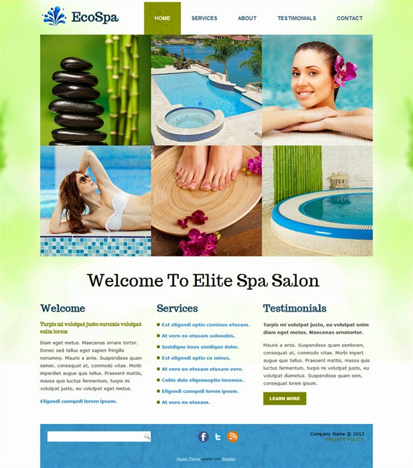 Eco Spa - Free Drupal Theme