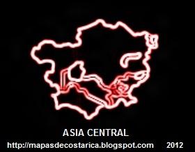 Mapa de Asia Central