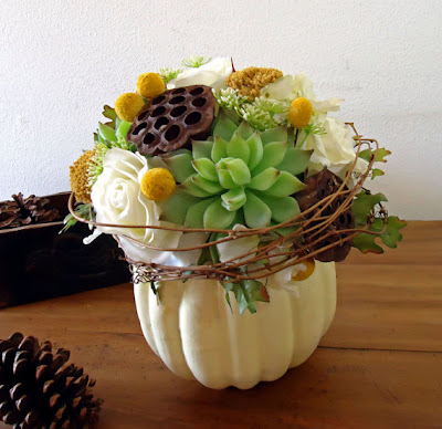 White Pumpkin Centerpieces Fall weddings