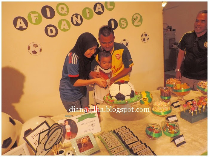 Afiq Danial's 2nd Birthday Party - Soccer Theme