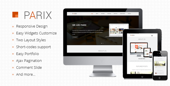 Parix – Themeforest One Page Blogger Template
