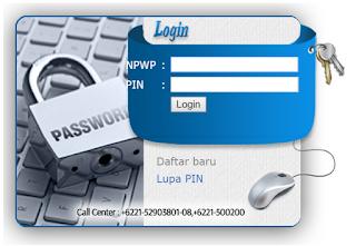 menu login di sse.pajak.go.id