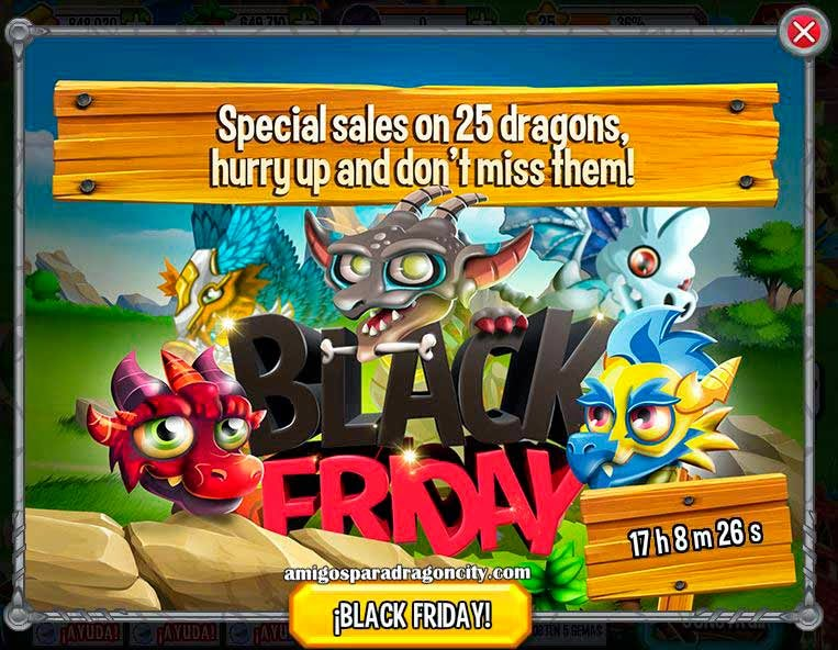 imagen del black friday de dragon city