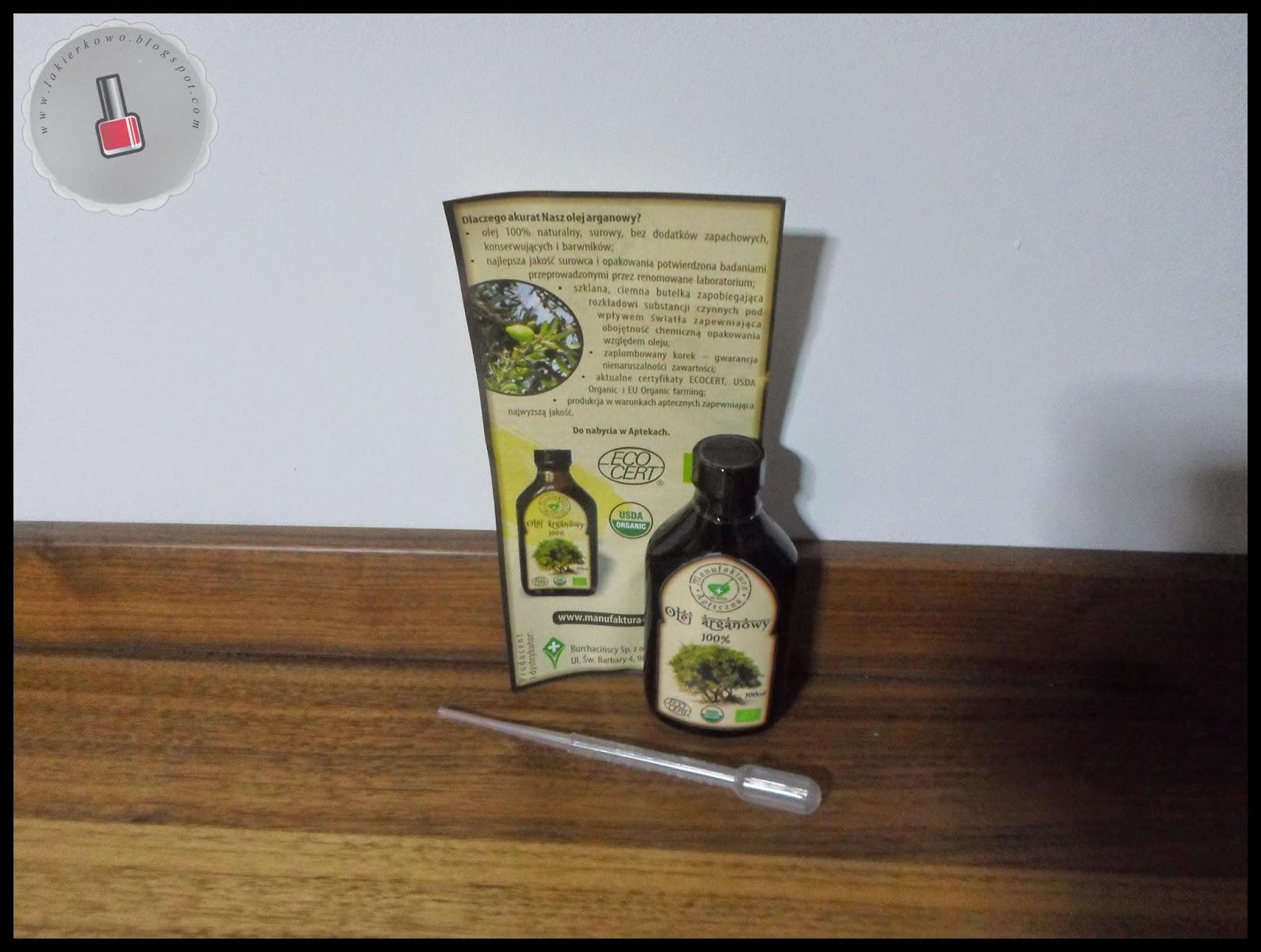 olej arganowy 100% - zapowiedź testów