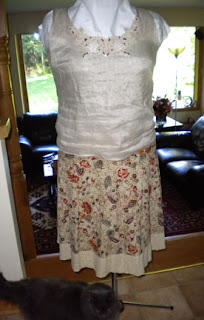skirt and sleeveless top