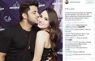 """Agora 'simbora' pro Goiás que amanhã a festa será em Itumbiara-GO"""", postou."""
