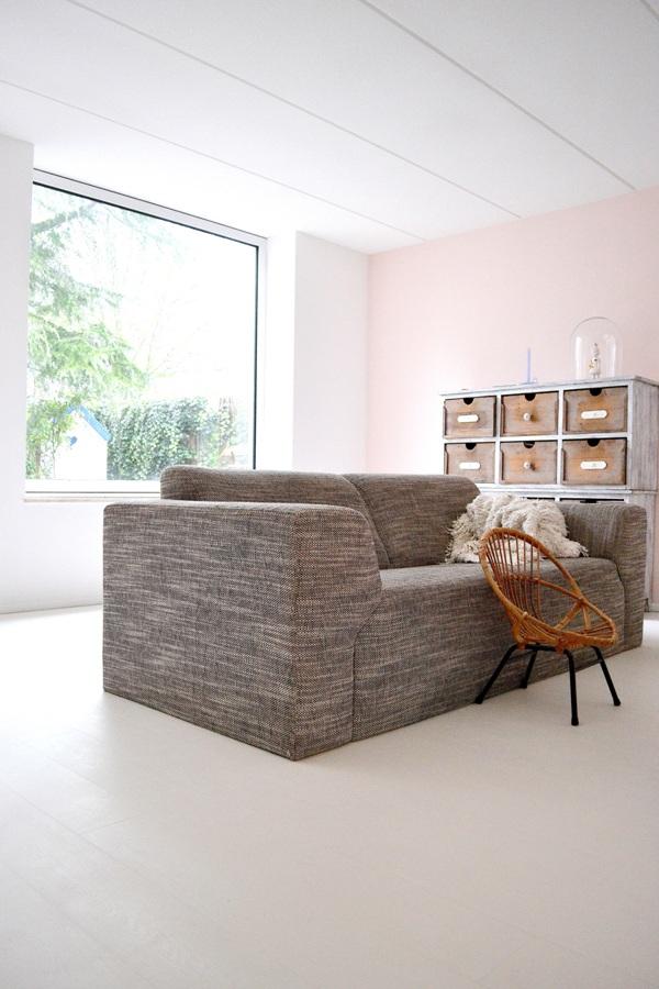 Woonkamer Kleuren Wanden: Een grijze muur saai nee hoor villa d ...