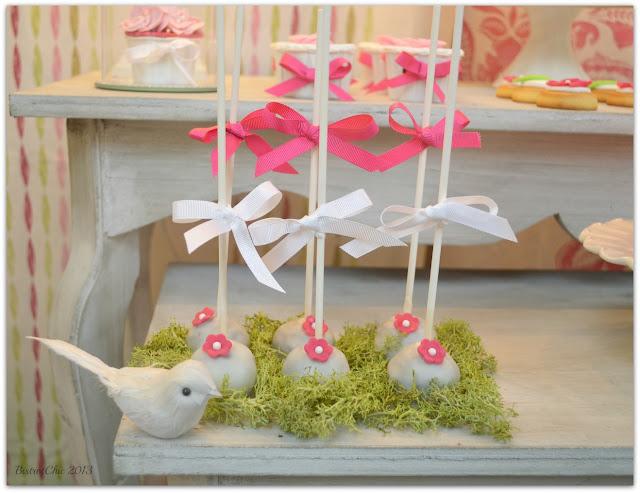 Spring Storefront dessert table cake pops by BistrotChic