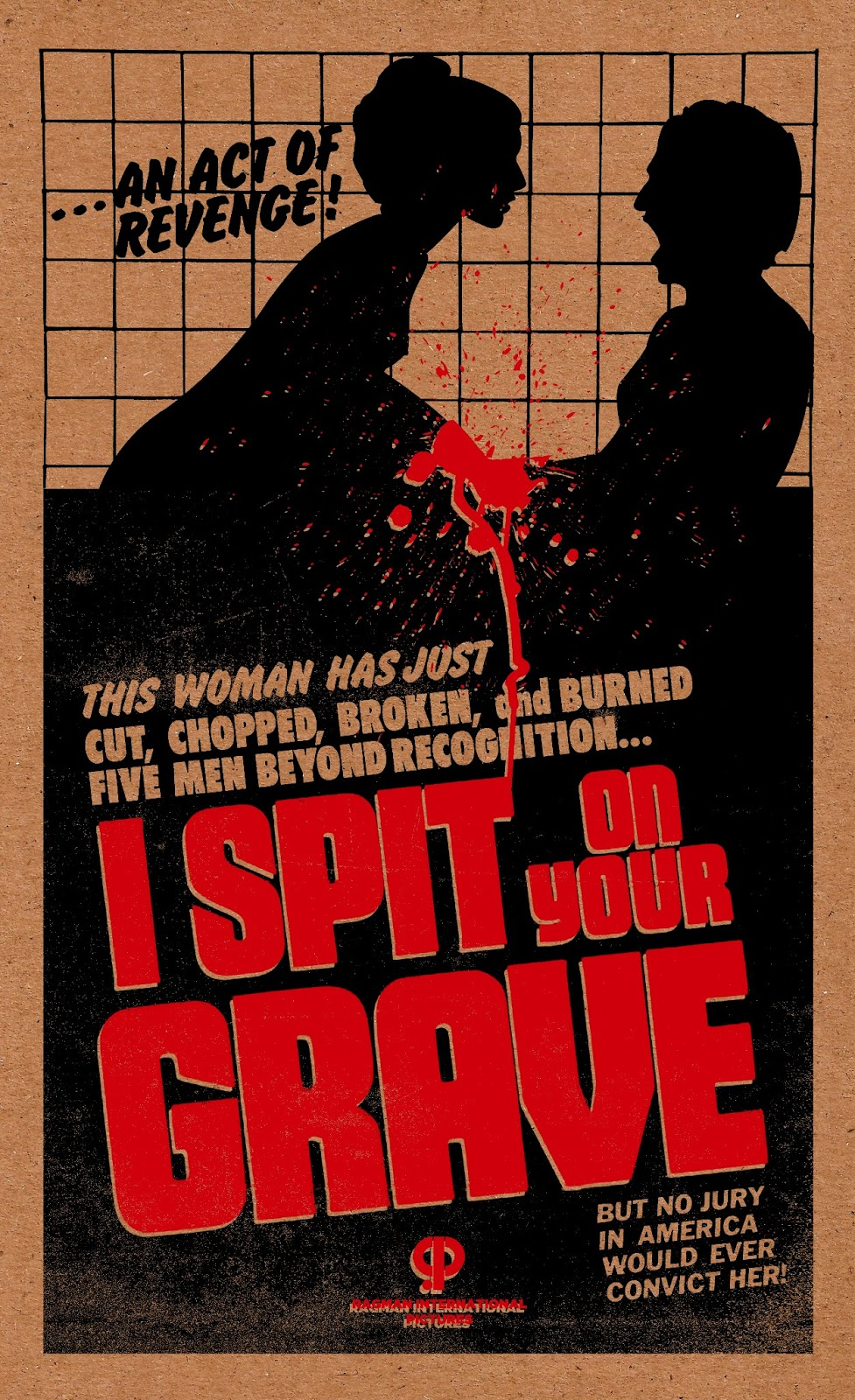 i spit on your grave screen print motion suggests itself