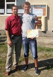 Cu elevul Iulian Urdă, festivitatea de premiere, 17.06.2011...