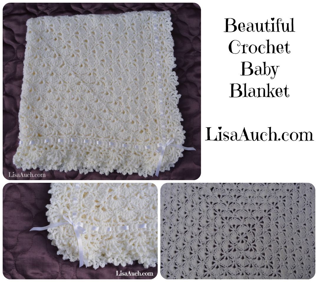 Crochet Patterns Of Baby Blankets : Unique Crochet Baby Shawl Blanket Pattern Perfect Gift for ...