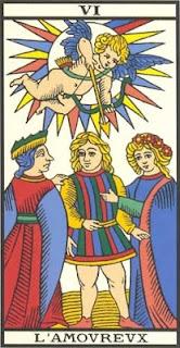 Arcano 6: Os Enamorados, carta do tarô, tarot, baralho de marselha