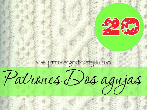 colección de 20 patrones de tejido dos agujas