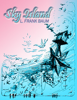 sky, island, baum, fiction, classics, adventures, trot, oz, books, magic, umbrella