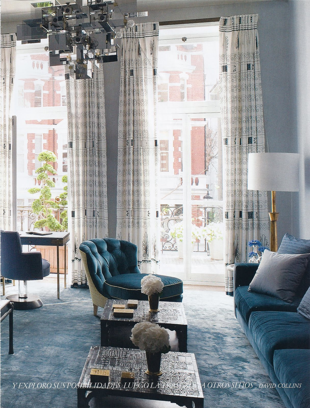 Lovely ugly design david collins london apartment for Apartment design london