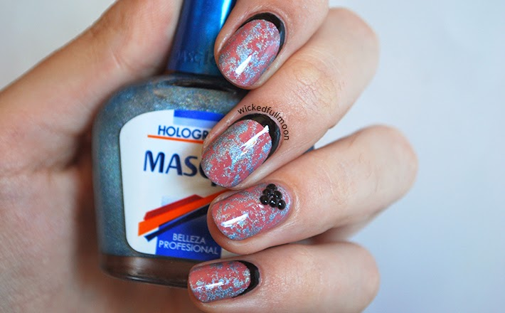 Wicked Fullmoon | Nail art | Saran wrap and Ruffian nails