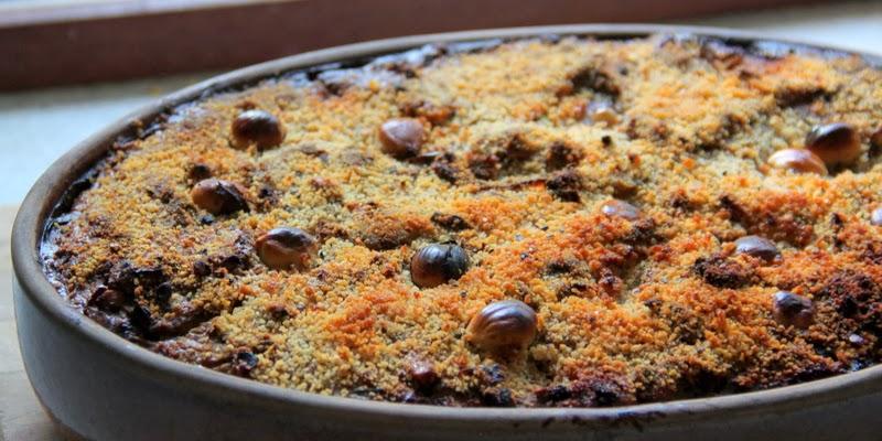 paté med svampe og hasselnødder