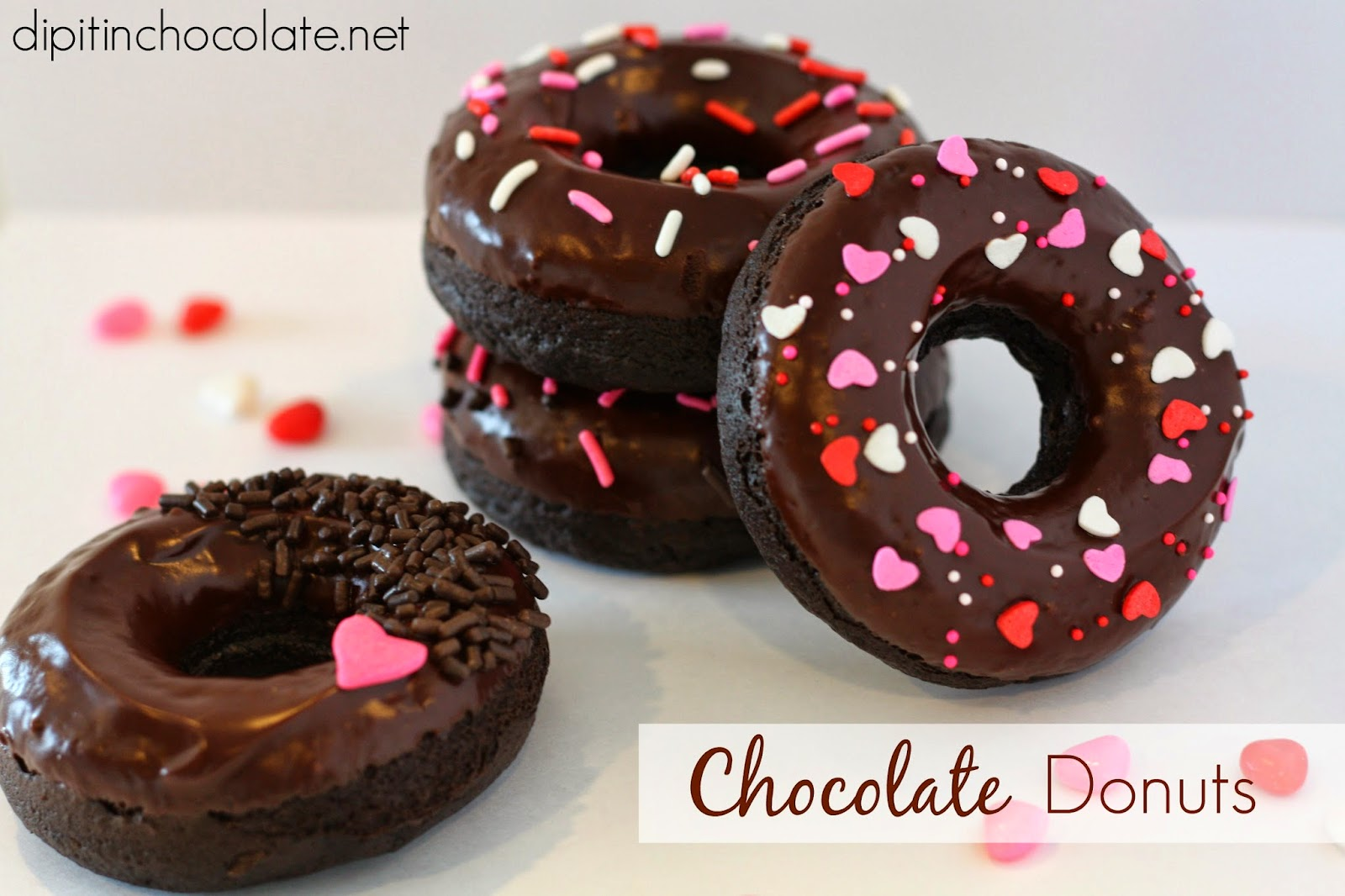 Dark Chocolate Donuts ~ Dip it in Chocolate