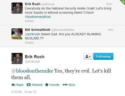 Erik Rush calls for all Muslims to be killed