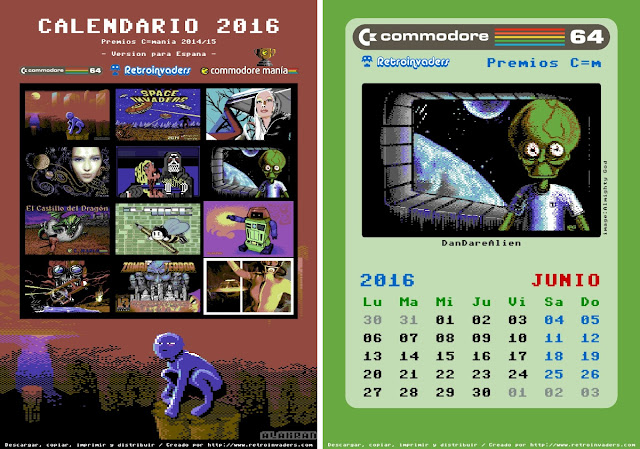 Calendario Retroinvaders 2016