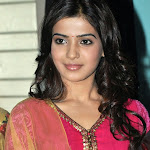 Samantha Beautiful in Pink Churidar Photo Gallery