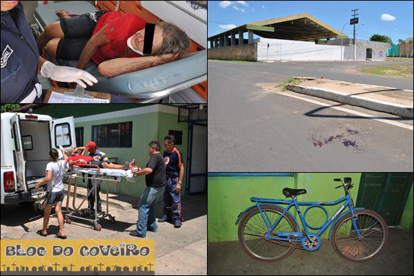 Queda de bicicleta deixa idosa ferida no centro de Cocal