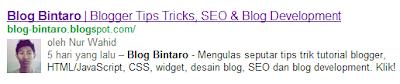 Menampilkan Foto Profil Blog/Google+ di Hasil Pencarian Google
