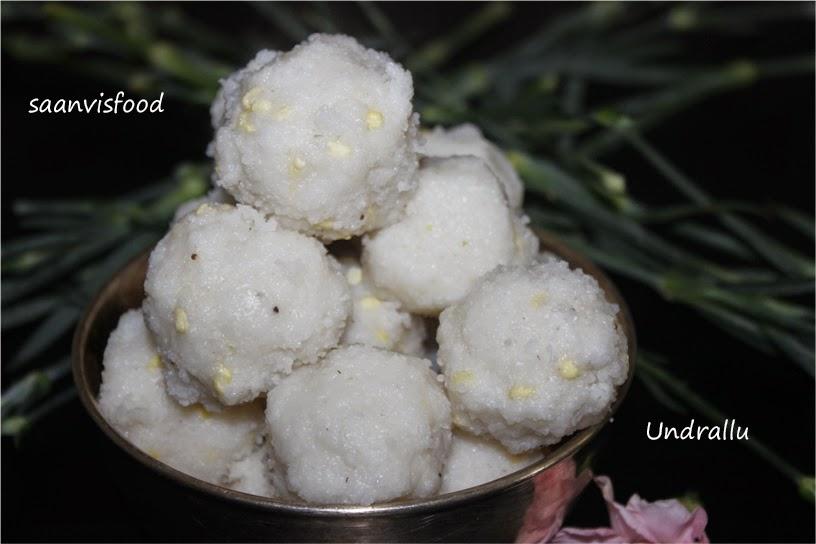Undrallu/Rice Rava Steamed Balls