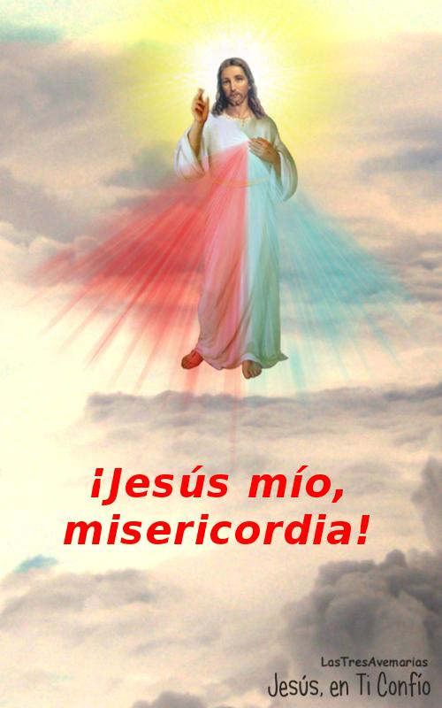 foto con jaculatoria al señor de la misericordia